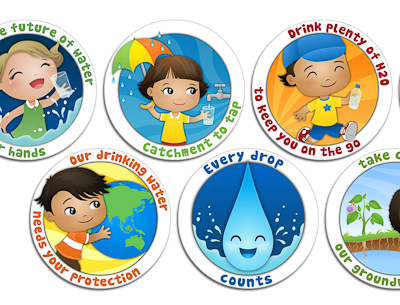 Water Corporation Stickers